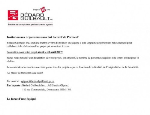 Invitation aux organismes sans but lucratif
